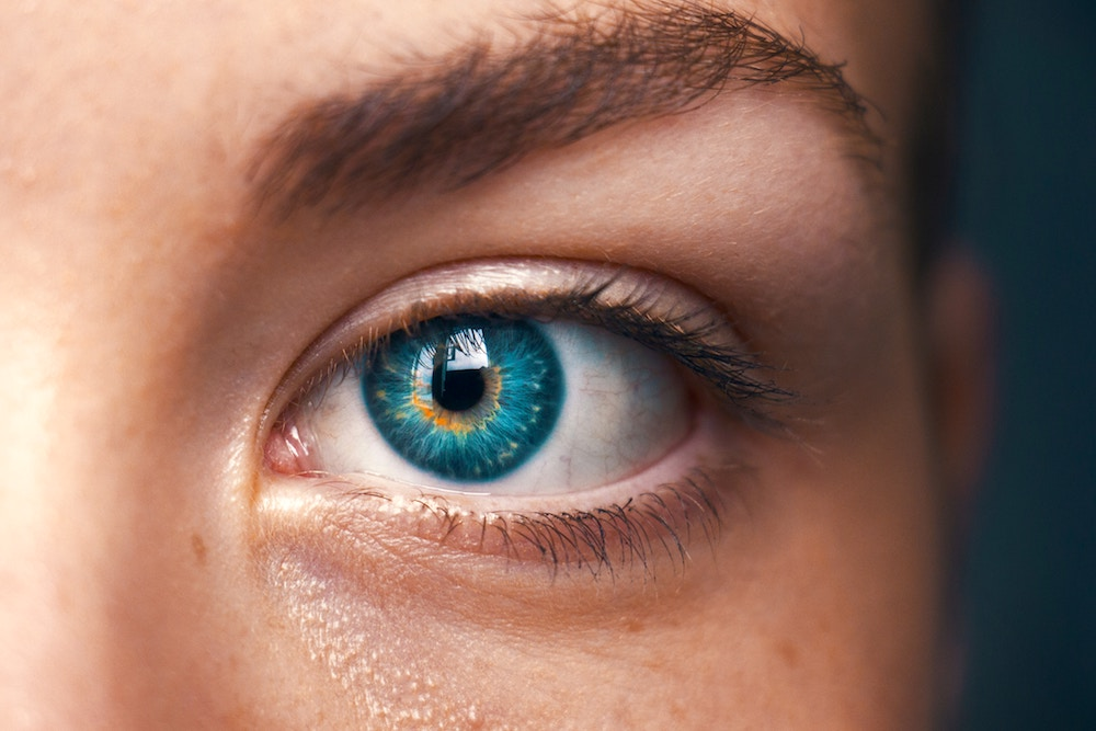 Beautiful Close up Photo of a Womans Blue Eye