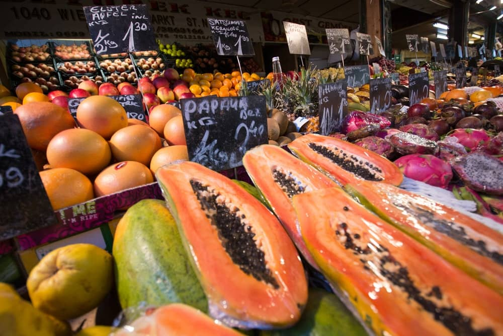 Papaya For Sale at The Farmers Market