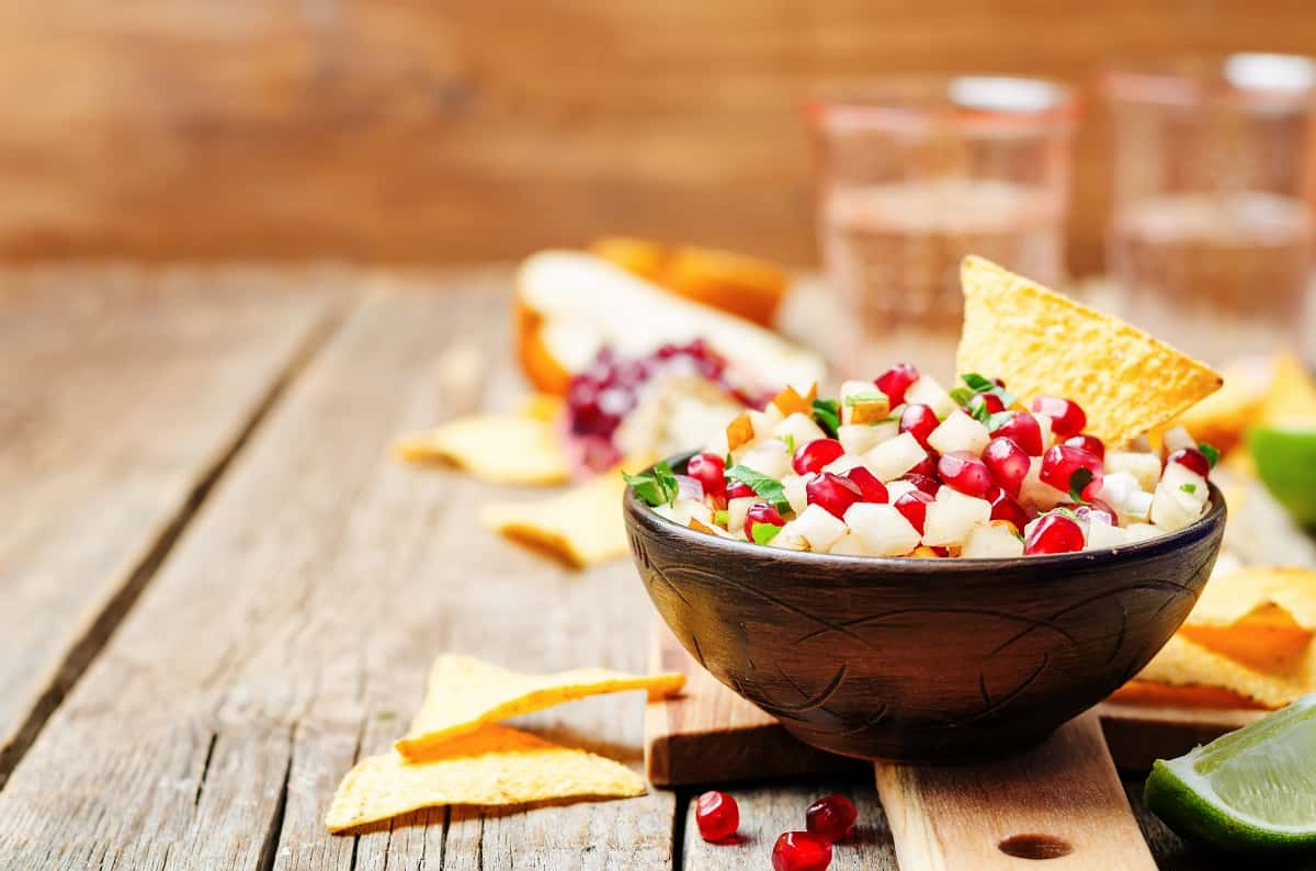 pomegranate-pear-salsa