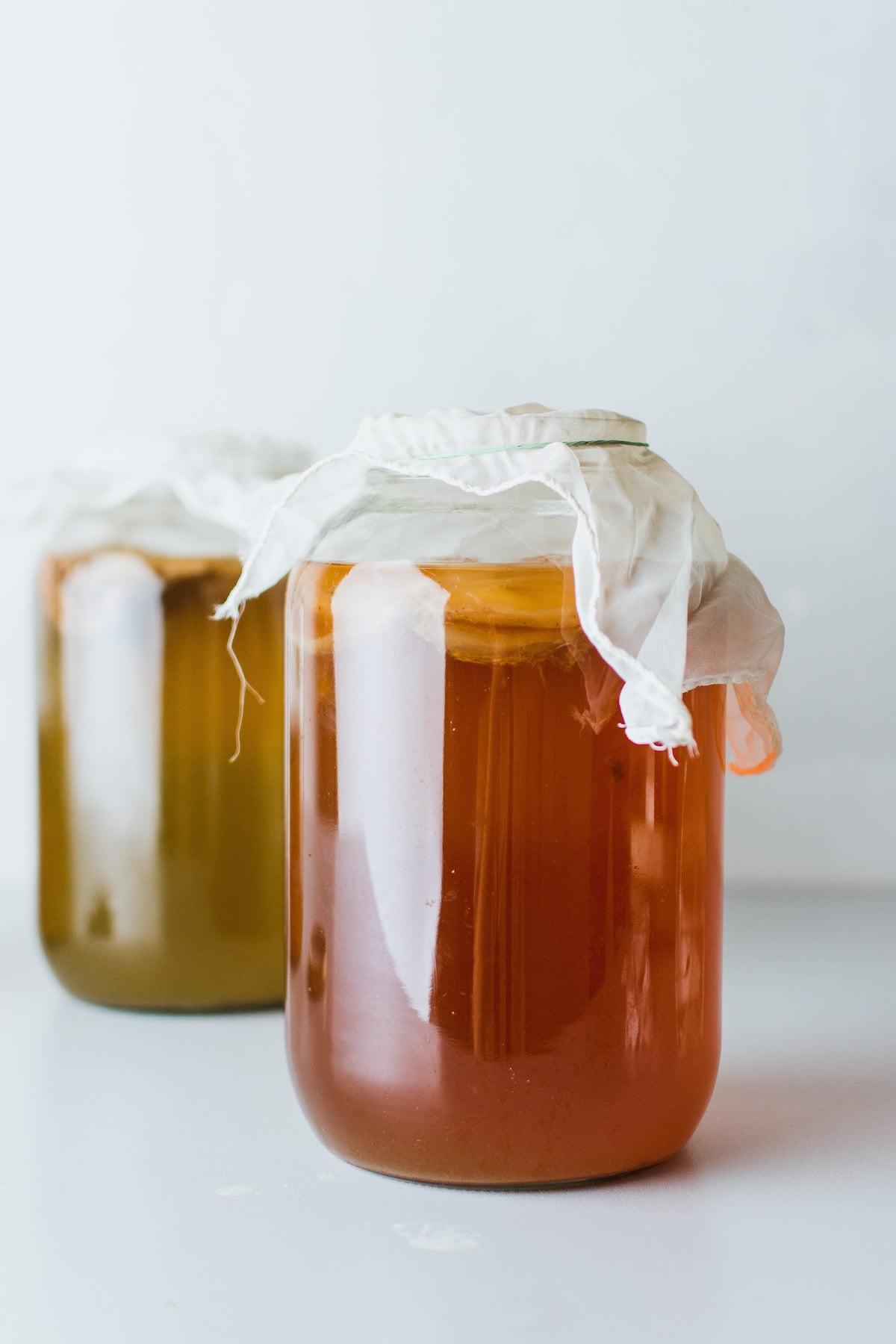 botle of combucha
