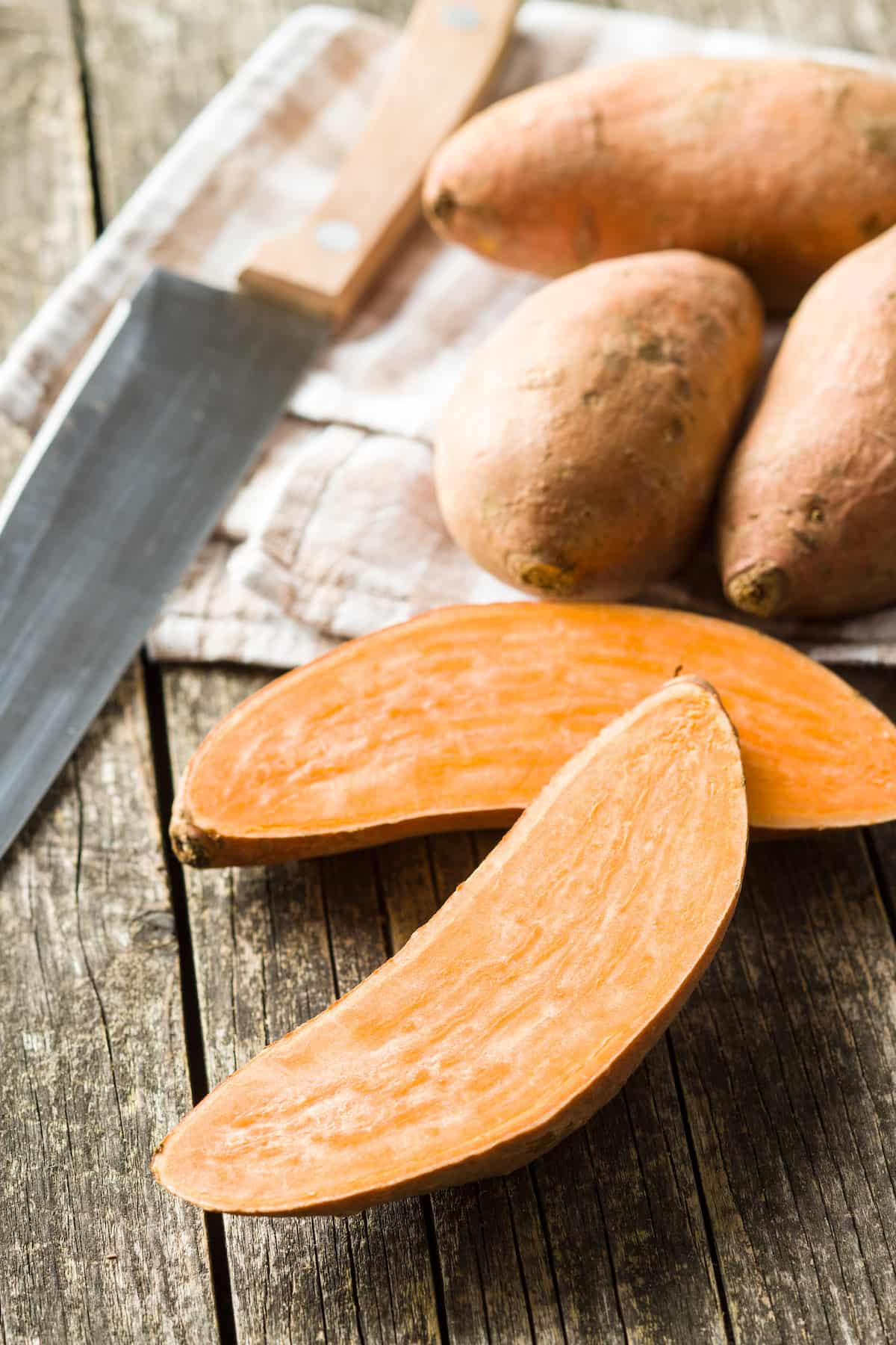 the sweet potatoes