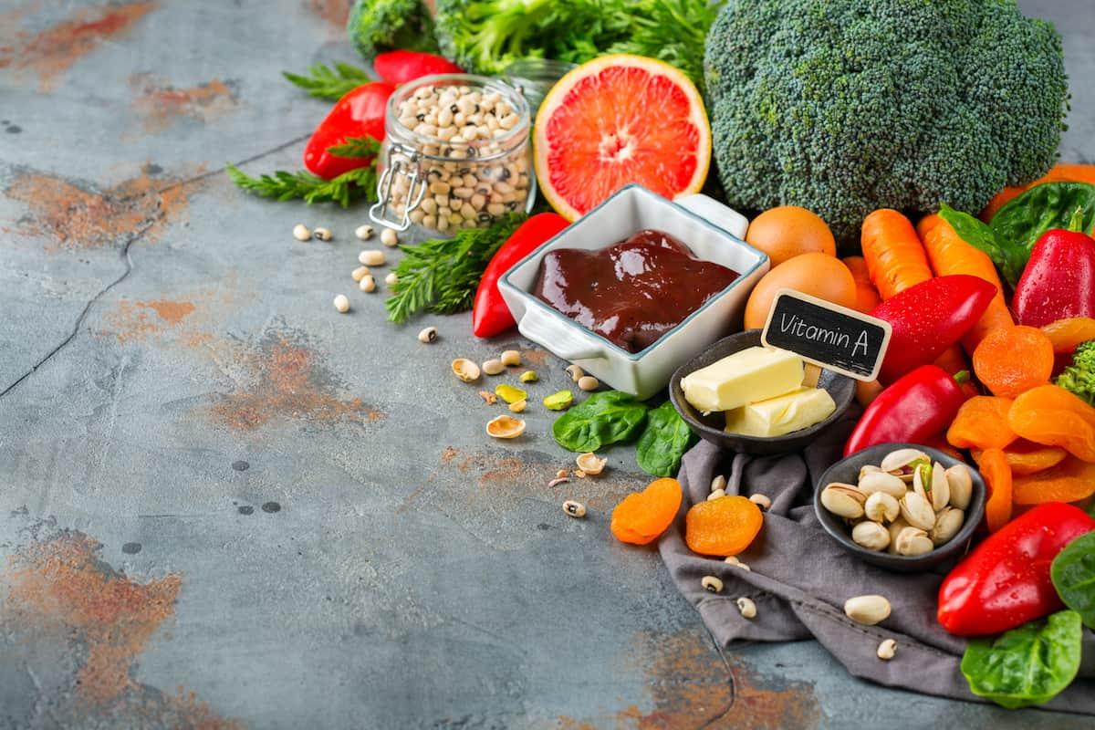 assortment of diet food